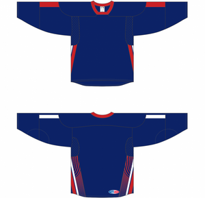 2006 TEAM USA NAVY Sublimated Sleeve Stripes And Side Inserts