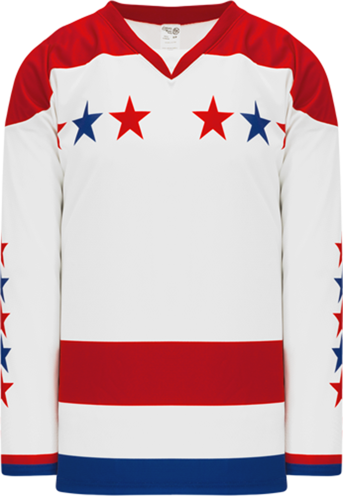 2015 WASHINGTON 3RD RED Double Elbows Pro Blank Hockey Jerseys
