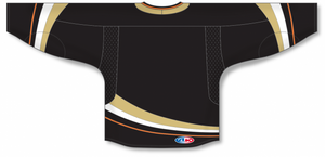 2007 Anaheim Black Gussets Pro Blank Hockey Jerseys