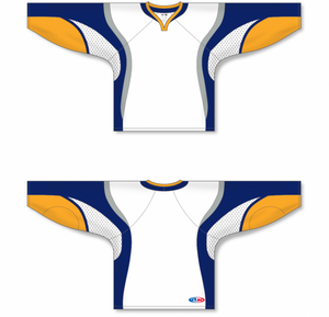 2008 Buffalo White Pro Blank Hockey Jerseys