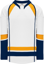Load image into Gallery viewer, 2013 Nashville White Pro Blank Hockey Jerseys