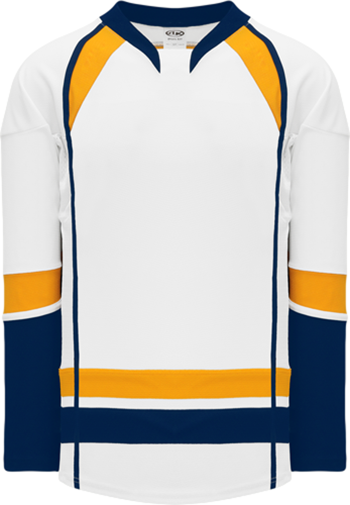 2013 Nashville White Pro Blank Hockey Jerseys