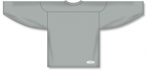 Grey Practice Blank Hockey Jerseys
