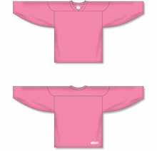 Load image into Gallery viewer, Pink Practice Blank Hockey Jerseys