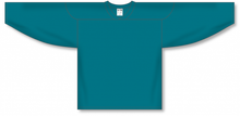 Load image into Gallery viewer, Teal Practice Blank Hockey Jerseys