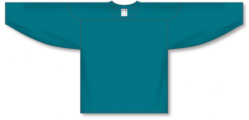 Teal Practice Blank Hockey Jerseys
