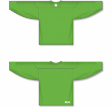 Load image into Gallery viewer, Lime Green Practice Blank Hockey Jerseys