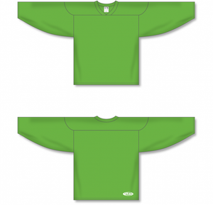 Lime Green Practice Blank Hockey Jerseys