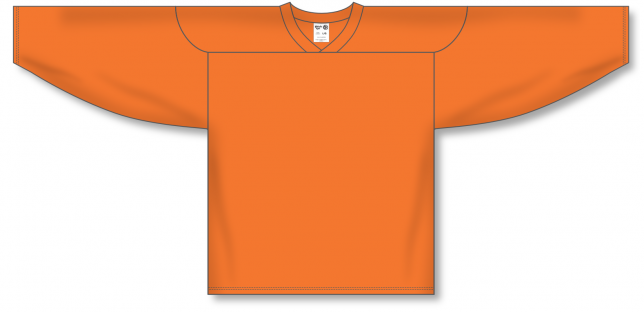 Orange Practice Blank Hockey Jerseys