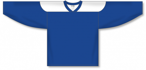 Royal, White League Blank Hockey Jerseys