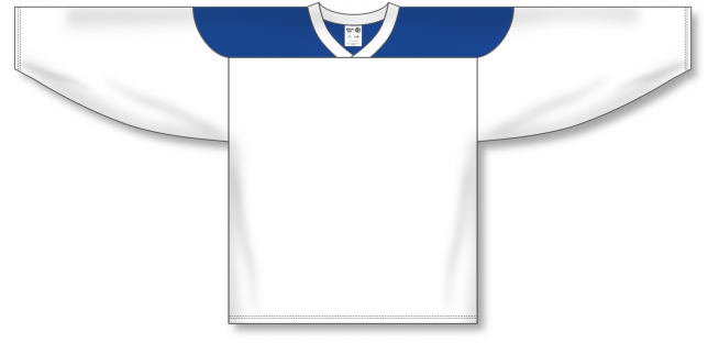 White, Royal League Blank Hockey Jerseys
