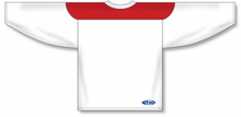 Load image into Gallery viewer, White, Red League Blank Hockey Jerseys