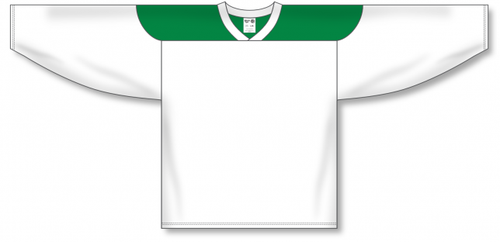White, Kelly League Blank Hockey Jerseys