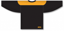 Load image into Gallery viewer, Black, Gold League Blank Hockey Jerseys