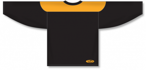 Black, Gold League Blank Hockey Jerseys