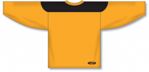 Gold, Black League Blank Hockey Jerseys