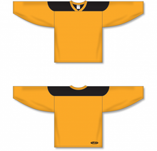 Load image into Gallery viewer, Gold, Black League Blank Hockey Jerseys