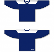 Load image into Gallery viewer, Navy, White League Blank Hockey Jerseys