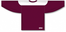 Load image into Gallery viewer, Maroon, White League Blank Hockey Jerseys
