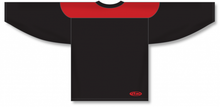 Load image into Gallery viewer, Black, Red League Blank Hockey Jerseys