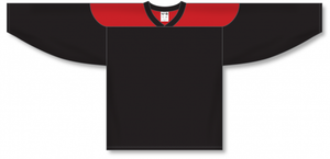 Black, Red League Blank Hockey Jerseys