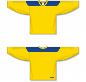 Maize, Royal League Blank Hockey Jerseys