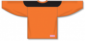 Orange, Black League Blank Hockey Jerseys