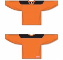 Load image into Gallery viewer, Orange, Black League Blank Hockey Jerseys