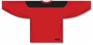 Red, Black League Blank Hockey Jerseys