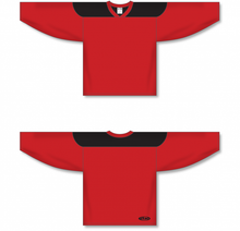 Load image into Gallery viewer, Red, Black League Blank Hockey Jerseys