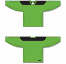 Load image into Gallery viewer, Lime Green, Black League Blank Hockey Jerseys