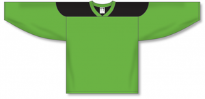 Lime Green, Black League Blank Hockey Jerseys