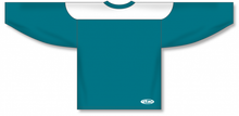 Load image into Gallery viewer, Pacific Teal, White League Blank Hockey Jerseys