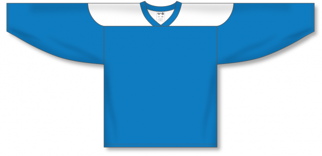 Pro Blue, White League Blank Hockey Jerseys