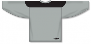 Grey, Black League Blank Hockey Jerseys