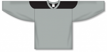 Load image into Gallery viewer, Grey, Black League Blank Hockey Jerseys