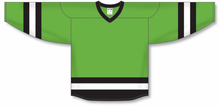 Load image into Gallery viewer, Lime Green, Black, White League Blank Hockey Jerseys