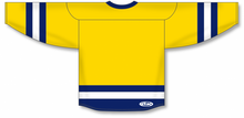 Load image into Gallery viewer, Maize, Navy, White League Blank Hockey Jerseys