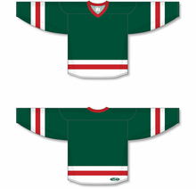 Load image into Gallery viewer, Dark Green, White, Red League Blank Hockey Jerseys
