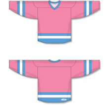 Load image into Gallery viewer, Pink, Sky, White League Blank Hockey Jerseys