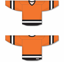 Load image into Gallery viewer, Orange, Black, White League Blank Hockey Jerseys