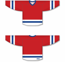 Load image into Gallery viewer, Red, White, Royal League Blank Hockey Jerseys