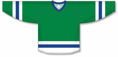 Kelly, White, Royal League Blank Hockey Jerseys