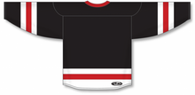 Load image into Gallery viewer, Black, White, Red League Blank Hockey Jerseys