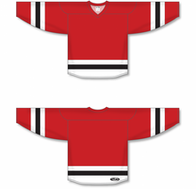 Load image into Gallery viewer, Red, White, Black League Blank Hockey Jerseys