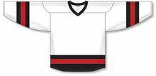 Load image into Gallery viewer, White, Black, Red League Blank Hockey Jerseys