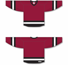Load image into Gallery viewer, Av Red, Black, White League Blank Hockey Jerseys