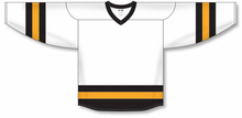 Load image into Gallery viewer, Grey, Black, White League Blank Hockey Jerseys