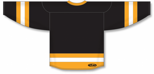 Black, Gold, White League Blank Hockey Jerseys