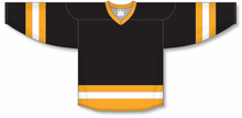 Load image into Gallery viewer, Black, Gold, White League Blank Hockey Jerseys